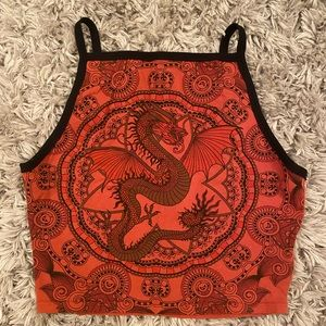 Truly Madly Deeply dragon crop top